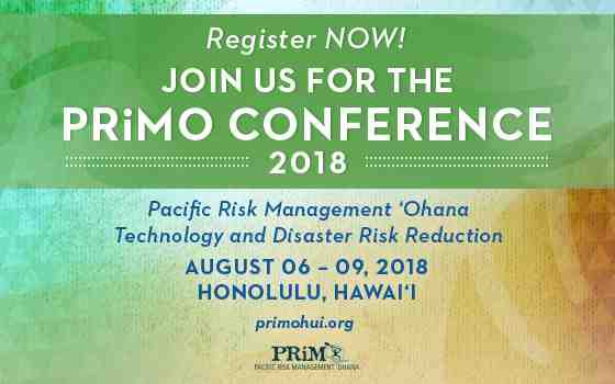 This a flyer for the PRiMO 2018 conference registration