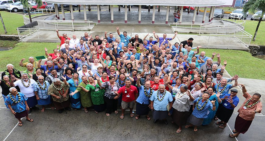 This is a picture of the participants at the 2019 PRiMO Meeting in American Samoa