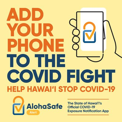 This is a picture of the AlohaSafe Alert App Poster provided by AlohaSafe