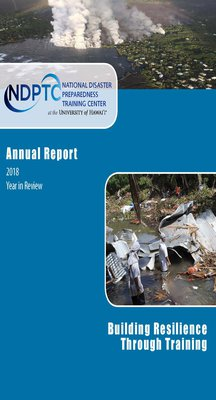 This is a JPEG Image of the Cover of NDPTC's 2018 Annual Report