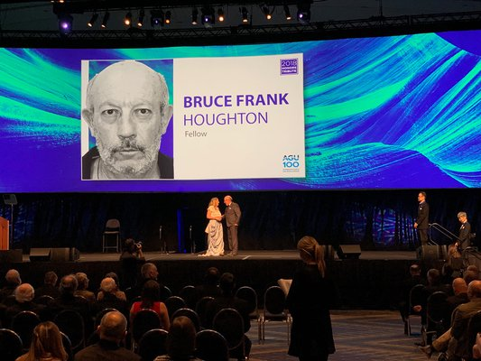 This is a picture of the award ceremony as Dr. Bruce Houghton was elected a Fellow of the American Geophysical Union (AGU)