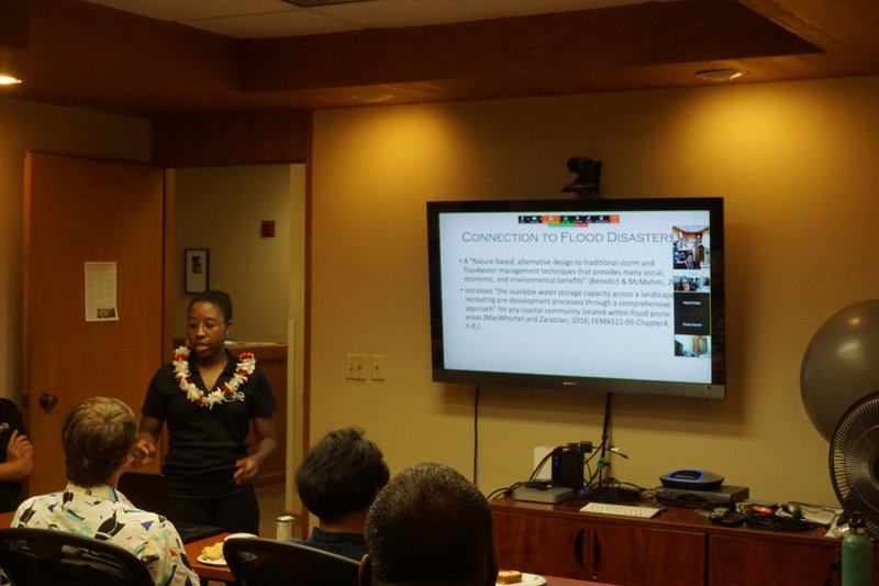This is a picture of Sequoia Riley presenting at NDPTC's 3rd Thursday Seminar