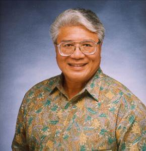 This is a portrait of Papali'i Dr. Failautusi Avegalio