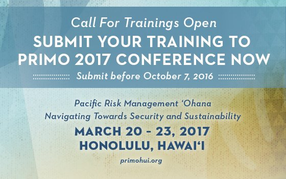 This is an image stating the submission due date for the 2017 PRiMO Call for Proposals