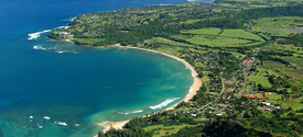 This is a picture of Hanalei Bay