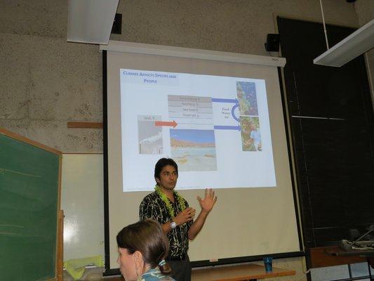 Camilo Mora gives presentation
