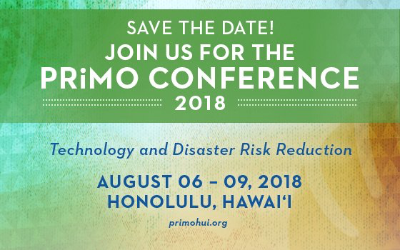 This is the save the date flier for the 2018 PRiMO Conference