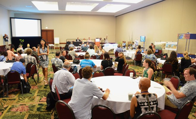 This is a picture of the the Living Shorelines Workshop at the IUCN Conference in Honolulu