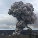 This is a picture of smoke plume from Kilauea Crater