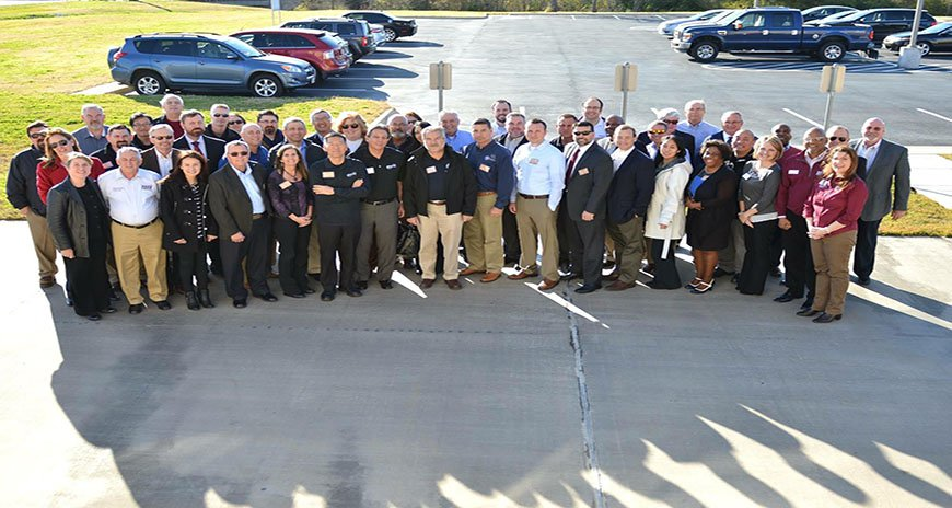 This is a photo of the NDPC members posing at the NDPC Quarterly Meeting at TEEX