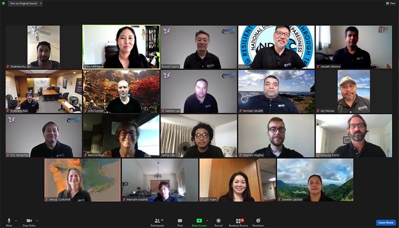 This is a picture of the NDPTC Staff on a Zoom webinar for the Third Thursday Lecture Series
