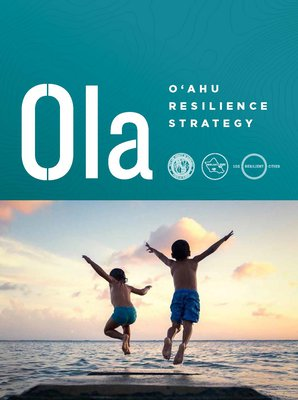 This is an image of the cover of Oahu's Resilience Strategy