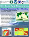 This is the flyer for the Pacific International Training Desk's Wave Modeling Webinar