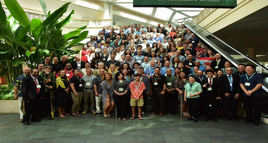 This is a group shot of all the participants that attended the first day of the Pacific Risk Management Ohana Conference