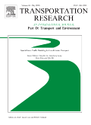 This is an image of the cover of the journal Transportation Research Part D