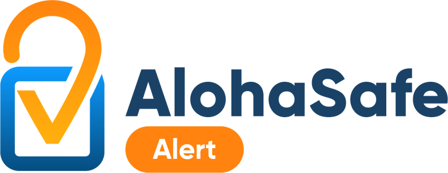 This is an image of the AlohaSafe Alert app logo