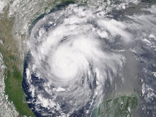 This is a picture of Hurricane Harvey