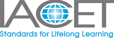 This is the logo for the International Association for Continuing Education and Training (IACET)