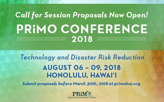 This is the flyer for the Hawaii Prepares 2016, free event at the 2016 PRiMO conference being held at the Hawaii Convention Center from 3:30 PM - 7:00 PM