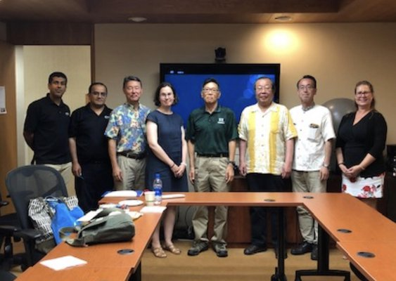 This is a group photo of NDPTC staff with the researchers from Tohoku University's IRIDES Center
