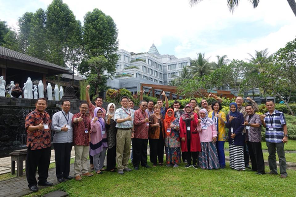 This is a picture of the participants from a USAID Workshop in Yogyakarta, Indonesia